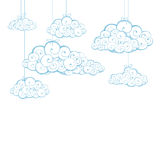 Decorative background with clouds Stock Photography