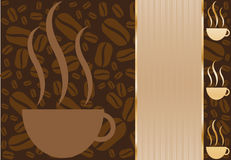 Coffee Cup Background Stock Photography