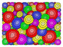 Decorative background of colorful flowers. vector illustration