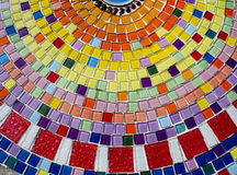 Decorative background with colorful mosaic tiles. Art design Royalty Free Stock Photo