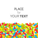 Decorative background of confetti with place for text. Bright festive backdrop. Decorative background of confetti with place for text. Bright festive backdrop Royalty Free Stock Photos