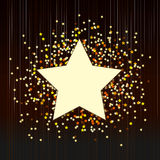 Decorative background with confetti from stars Stock Photography