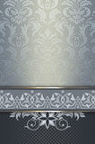 Decorative background with decorative border and ornament. royalty free stock photos
