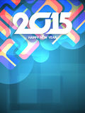 Decorative background design for happy new year 2015. Vector illustration Royalty Free Stock Photography