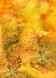 Decorative background with different structures in yellow and orange tones.  Royalty Free Stock Photos