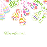 Decorative background with Easter eggs earrings. Good for Easter designs Stock Images