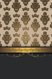 Decorative background with elegant border and ornament. Stock Image