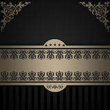 Decorative background with elegant border and patterns. Royalty Free Stock Photos