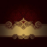 Decorative background with elegant border. stock photo