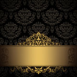 Decorative background with elegant border. royalty free stock photos