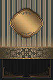 Decorative background with elegant borders. Royalty Free Stock Photos