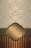 Decorative background with elegant borders. Royalty Free Stock Photography