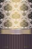 Decorative background with elegant floral ornament and border. Stock Photos