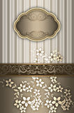 Decorative background with elegant frame. royalty free stock photo