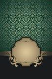 Decorative background with elegant frame. Stock Image