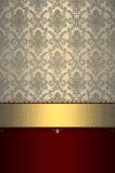 Decorative background with elegant gold border. royalty free stock photo