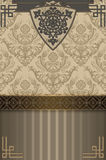 Decorative background with elegant ornament. Royalty Free Stock Photo