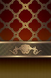Decorative background with elegant patterns. Royalty Free Stock Photography