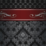 Decorative background with elegant red border. Royalty Free Stock Images