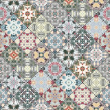 Decorative background in ethnic style. The rich decoration of abstract patterns for construction of fabric or paper. Vector illustration Royalty Free Stock Photos