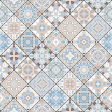 Decorative background in ethnic style. The rich decoration of abstract patterns for construction of fabric or paper. Vector illustration Stock Photo