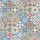 Decorative background in ethnic style. The rich decoration of abstract patterns for construction of fabric or paper. Vector illustration Stock Photos