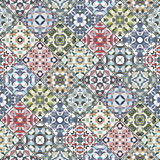 Decorative background in ethnic style. The rich decoration of abstract patterns for construction of fabric or paper. Vector illustration Royalty Free Stock Photography