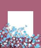 Blue flowers card Royalty Free Stock Image