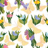 Decorative background with floral design. Royalty Free Stock Image
