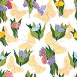 Decorative background with floral design. Decorative background with ornamental elements royalty free illustration