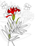 Decorative background with flower Royalty Free Stock Photo