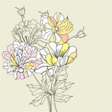 Decorative background with flowers Stock Photos