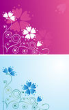 Decorative background with flowers. Decorative cards with spring flowers Stock Photos