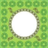 Decorative Background. Frame. Green decorative frame. Retro style Stock Photo