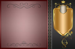 Decorative background with frame. Royalty Free Stock Images