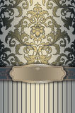 Decorative background with frame and border. royalty free stock photos