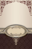 Decorative background with frame and border. Royalty Free Stock Image