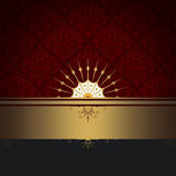 Decorative background with gold border. Stock Images
