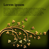 Decorative background with gold branch for text Stock Images
