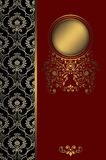 Decorative background with gold frame. Stock Images