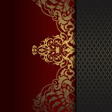 Decorative background with gold pattern. Royalty Free Stock Photos