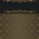 Decorative background with gold pattern. Stock Images