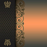 Decorative background with gold pattern. Royalty Free Stock Images