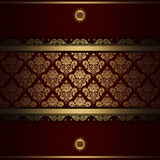 Decorative background with gold patterns. Stock Images