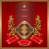 Decorative background with golden elements. Royalty Free Stock Images