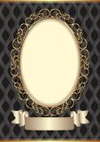 Background. Decorative background with golden frame Royalty Free Stock Photos