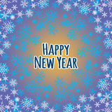 Decorative background for a Happy new year. Stock Image