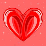 Decorative background with heart Royalty Free Stock Images
