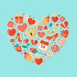 Decorative background with heart Stock Photo