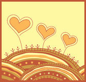 Decorative background with hearts Royalty Free Stock Images
